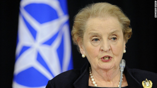 Former U.S. Secretary of State Madeleine Albright is among about 2,000 names removed from a blacklist in Myanmar.
