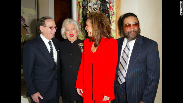 From left to right: David, BMI President Francis Preston, songwriters Denise Rich and Eddie Holland attend Celebration of the Song in February 2003.
