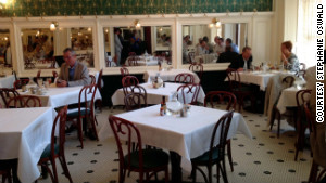 Empty tables during Friday lunch are an unusual sight at Galatoire\'s in the French Quarter.