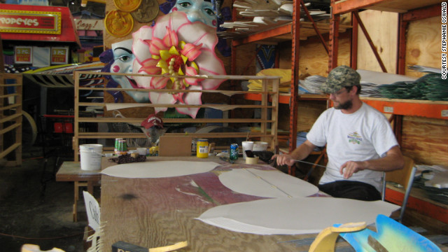 Mardi Gras World workers returned to creating the company's giant parade floats Friday. CEO Barry Kern said Isaac was a &quot;blip on the screen&quot; in a very good year for tourism.