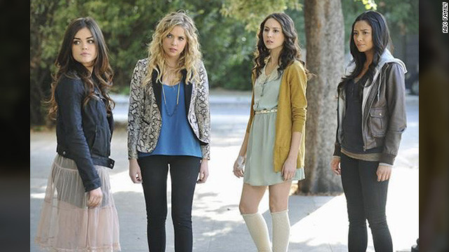 """(Here) you have Aria's (from left) vintage rock-and-roll ... Hanna's high-end glam with her famous pops of color, you have the softness of Spencer ... and my sexy, tough and modern Emily,"" costume designer Mandi Line said. ""Aria is my fantasy doll, Hanna is my high school me, Spencer is who I learn from the most, and Emily comes the most natural to me."""
