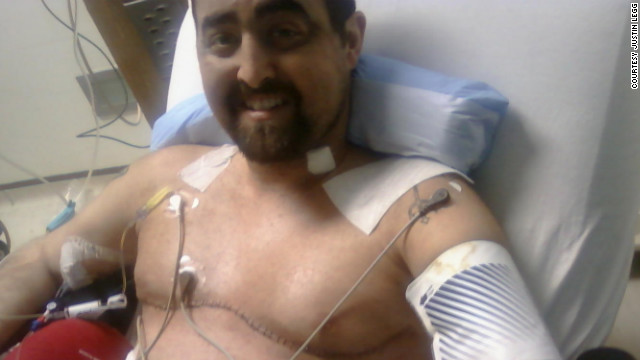 "Justin Legg received a double lung transplant in July 2010. ""I remember waiting... to take that first breath,"" Legg says. ""I just took one big deep breath and (said), 'Oh, man, this is awesome.'"""
