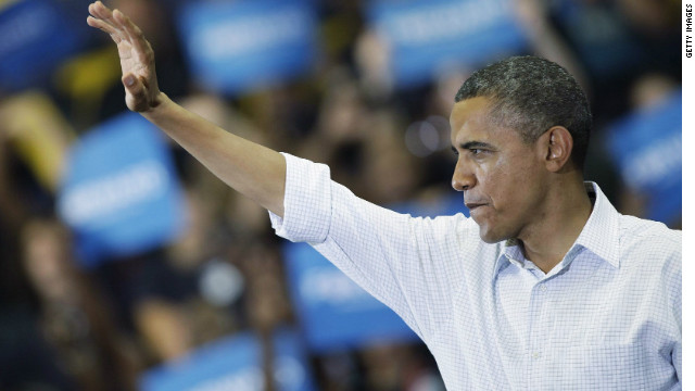 Obama explains 'Romney-ball' at rally in Ohio