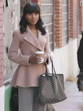Paolo said she routinely dresses Olivia in pastels, such as this Armani jacket, so she'll stand out. And while Olivia will carry a new Prada purse on season 2, she's shown here holding a Goyard tote.