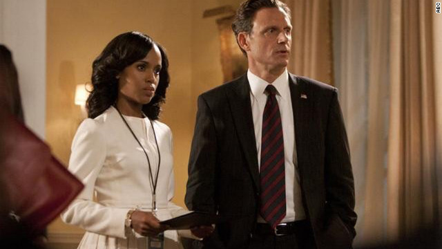 Kerry Washington plays Olivia Pope and Tony Goldwyn plays President Fitzgerald Grant on 