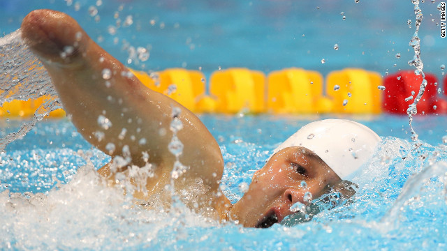 Qing Xu of China competes in the men's 200-meter individual medley final.