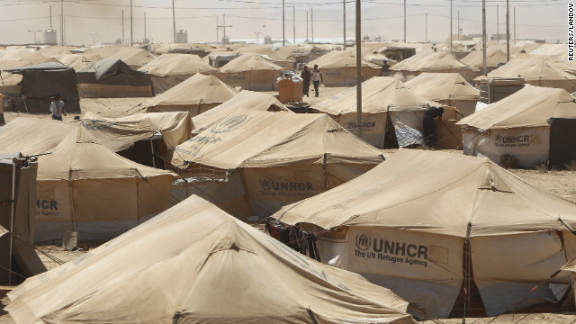 The camp was opened less than a month ago to accommodate the growing number of refugees arriving in Jordan since the Syrian uprising began 18 months ago.<br/><br/>