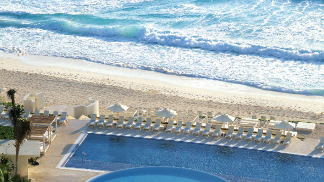 Live Aqua Cancun offers easy access to pools and the beach, all catering just to grown ups.