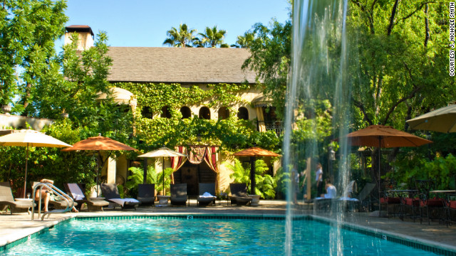 Ranked by U.S. News as one of the best California wine country hotels, the Kenwood Inn has three courtyards, each featuring its own saline swimming pool.