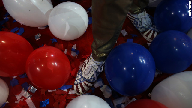 No balloons to close Democratic convention