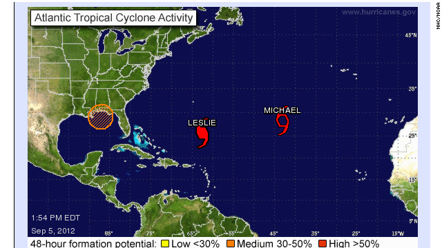 """Las Bermudas cierran escuelas y oficinas ante avance del huracán """"Leslie"""""""