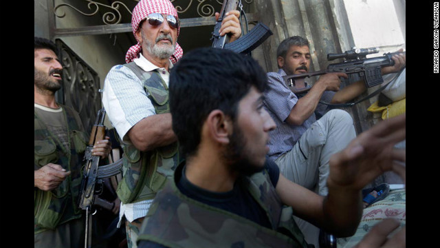 At least one member of the Free Syrian Army was killed, along with several al Assad fighters, Vilanova said.