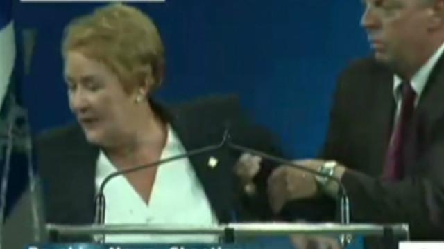 La primera ministra de Quebec, Pauline Marois sufre un atentado