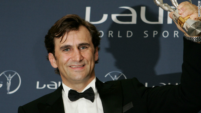Zanardi was honored for his incredible comeback at the Laureus World Sports awards in 2005.
