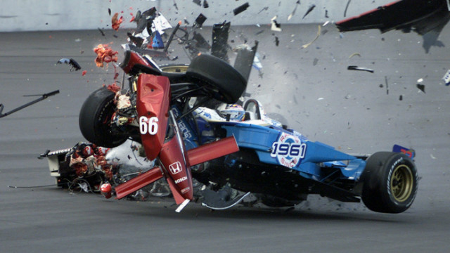 Driving a Honda Reynard (No. 66) Zanardi sustained horrific injuries during a CART Championship series race in Germany as he collided with fellow competitor Alexandre Tagliani (No. 33).