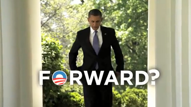 Crossroads spends millions mocking Obama's 'forward' slogan
