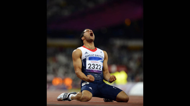 Britain's Sam Ruddock reacts after his men's 200-meter T35 round 1 athletics heat on Thursday.