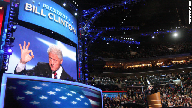 President Bill Clinton speaks on Wednesday, September 5.