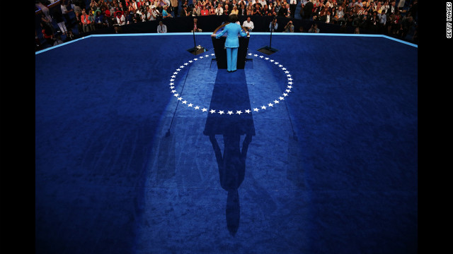 House Minority Leader Nancy Pelosi speaks on Wednesday, September 5. President Barack Obama will speak and accept the party's nomination inside the arena on Thursday, the final day of the convention.