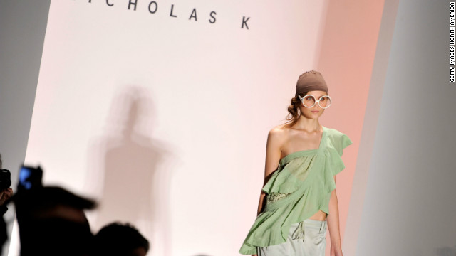 All eyes -- wearing glasses or not -- were on the Nicholas K Spring 2013 fashion show. Nicholas K was among the first designers to show at Fashion Week.