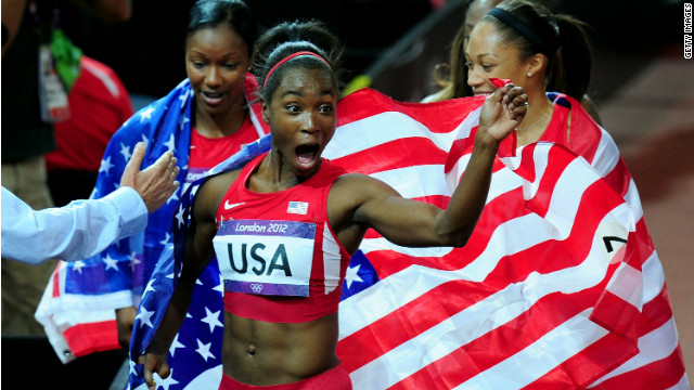 Gold medal sprinter teaches girls winning habits