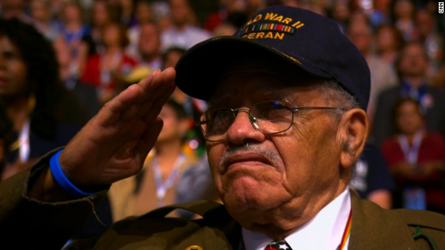 California's oldest delegate gives command performance in Charlotte
