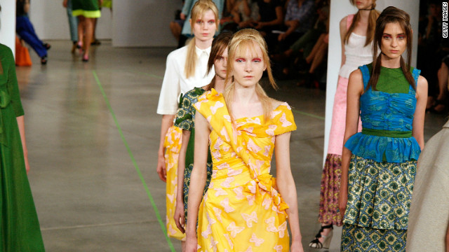 The Creatures of the Wind presentation at Milk Studios was inspired by 1960s couture.