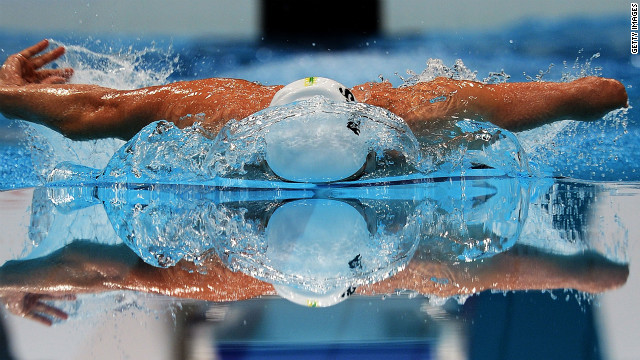 Matthew Cowdrey of Australia competes in the men's 200-meter individual medley SM9 final Thursday.