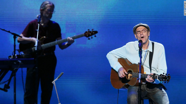 Singer/songwriter James Taylor performed several of his hit songs, including &quot;Carolina in my Mind,&quot; and &quot;How Sweet it is&quot; Thursday.