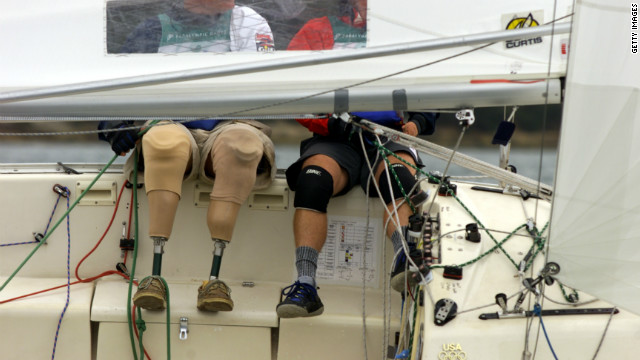 There are just three sailing classes but a huge number and variety of disabilities. Sailors are classed by the severity of their disabilities on a scale of one to seven, one being the most severe, seven the least.