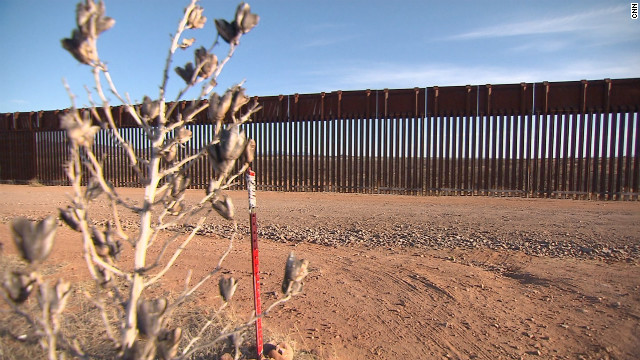 A border fence in Arizona.