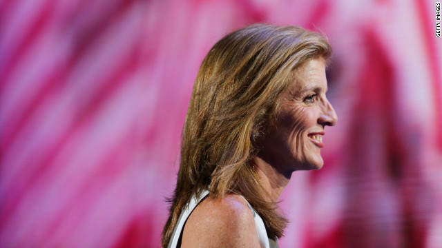 Caroline Kennedy addresses delegates on Thursday.