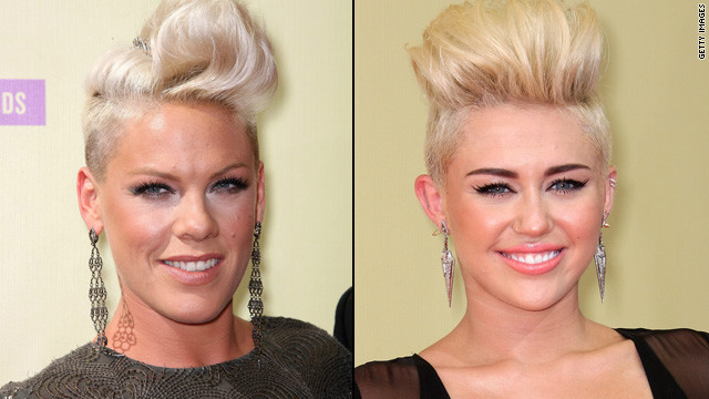 Twinsies! Pink and Miley Cyrus sport the same cut