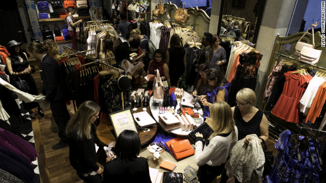 Shoppers show up at Ted Baker London.