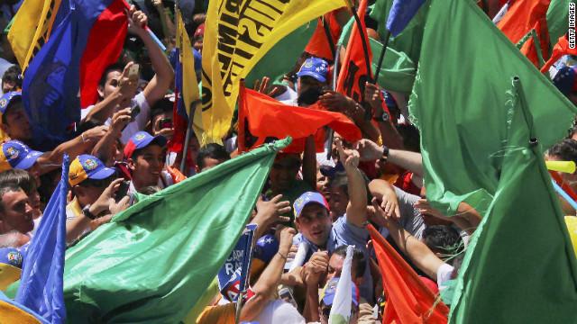"""""""Guerra"""" de encuestas en recta final de la campaña presidencial venezolana"""