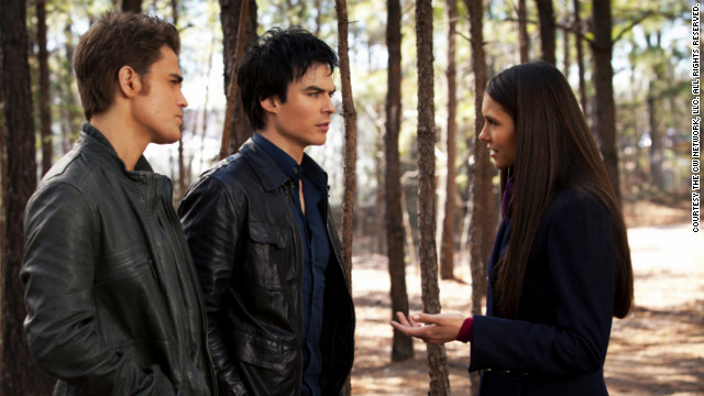 Vampire brothers Stefan (Paul Wesley), left, and Damon (Ian Somerhalder) &quot;just want to blend in with regular people, so they wear what is considered contemporary for whatever time period they are in,&quot; Leverett said. Stefan's leather jacket is Hugo Boss and Damon's is John Varvatos, &quot;which hold up really well in a supernatural fight,&quot; she jokes.