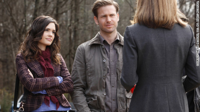 Dr. Meredith Fell (Torrey DeVitto) and Alaric Saltzman (Matthew Davis) are two of the few adults on the series. Despite developing split personalities last season, Alaric's &quot;wardrobe stayed pretty much the same,&quot; Leverett said. Meanwhile, she said, Meredith is &quot;a no-nonsense kind of gal and we like to keep her wardrobe simple but pretty.&quot;