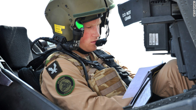 Prince Harry prepares his Apache to go out on a mission