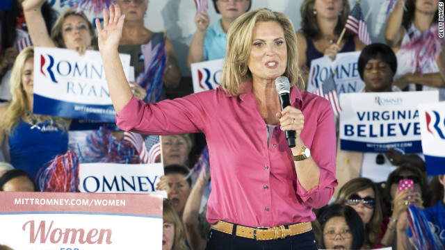 Ann Romney defers same-sex marriage, birth control questions to husband