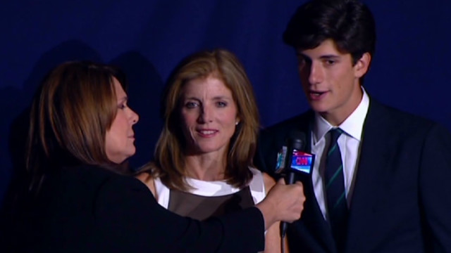 Caroline kennedy and her son talk with cnns candy crowley state of the union with candy crowley altavistaventures Gallery