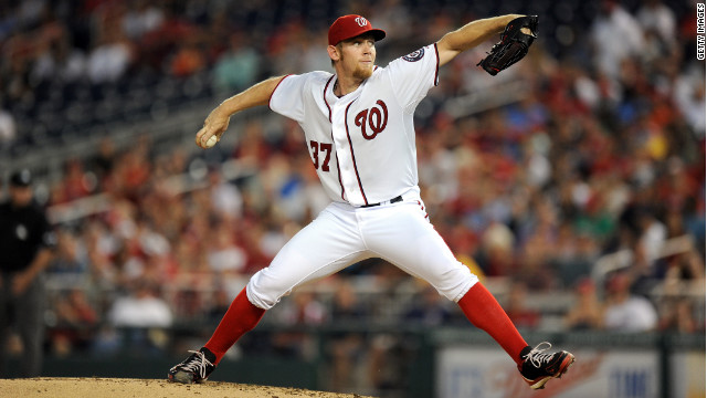 Stephen Strasburg was 15-6 with 197 strikeouts and a 3.16 ERA over 159 innings before his season ended Friday.