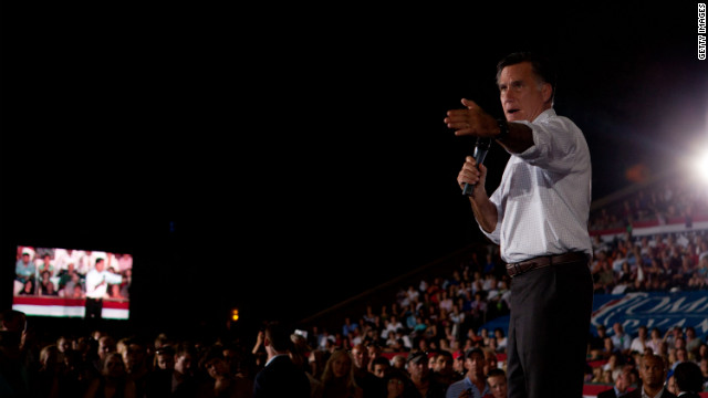 Romney casts dark cloud over Democrats&#039; convention high