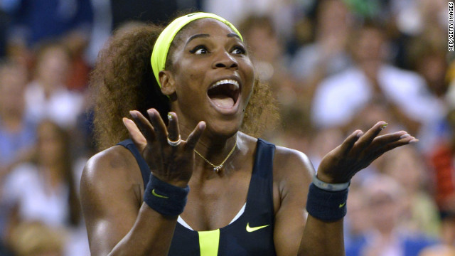 Serena Williams of the United States celebrates defeating Victoria Azarenka of Belarus 6-2, 2-6, 7-5 in the 2012 U.S. Open women's singles final on Sunday, September 9, in New York. See more U.S. Open action here.