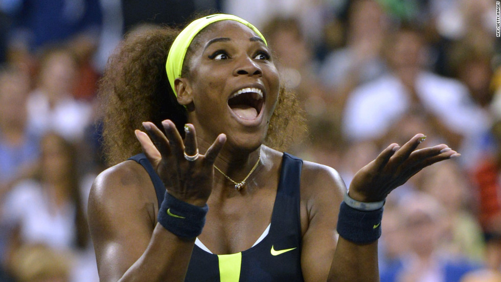 Serena Williams of the United States celebrates defeating Victoria Azarenka of Belarus 6-2, 2-6, 7-5 in the 2012 U.S. Open women's singles final on Sunday, September 9, in New York. &lt;a href='http://www.cnn.com/2012/08/28/worldsport/gallery/us-open-tennis/index.html'&gt;See more U.S. Open action here&lt;/a&gt;.