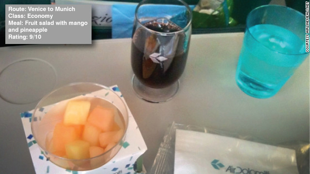 "This snack was just the right size for Michael Sedelles. He wrote: ""Nice and refreshing snack for such a short flight."""
