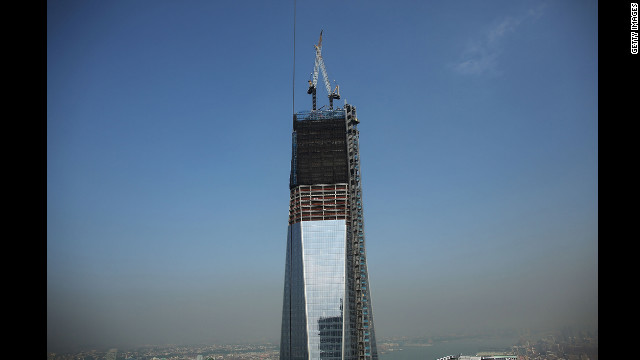 One World Trade Center is viewed from the 72nd floor of Four World Trade Center on Friday, September 7.