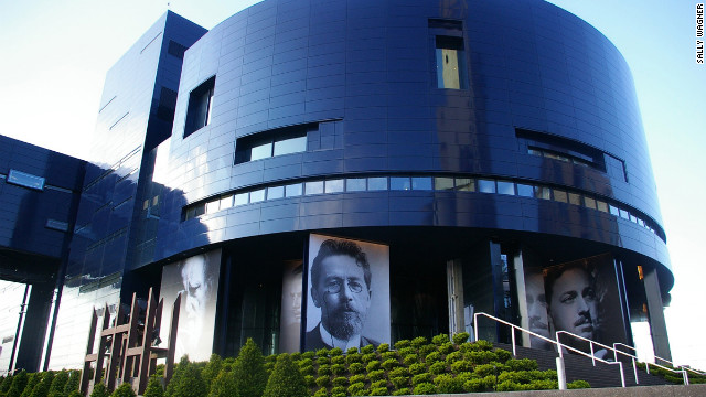 Pritzker Prize--winning architect Jean Nouvel's Guthrie Theater has a twilight-blue metal façade that blends with the evening sky, highlighting images of Guthrie productions screen-printed directly onto the façade on steel panels. 818 S. 2nd St.; 612-377-2224; guthrietheater.org.