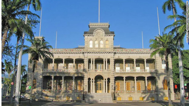 America's only true palace—as in, royalty resided here—was built from 1879 to 1882 in Honolulu by King Kalakua and Queen Kapi'olani. <a href='http://www.budgettravel.com/slideshow/photos-12-amazing-american-castles,8851/' target='_blank'>See more photos of the castles</a>