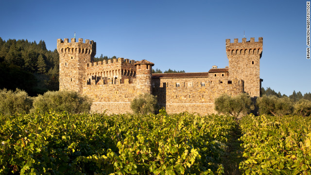 This modern-day Napa Valley castle in Calistoga, California, took 14 years to construct using historically accurate medieval building techniques. <a href='http://www.budgettravel.com/slideshow/photos-12-amazing-american-castles,8851/' target='_blank'>See more photos of the castles</a>