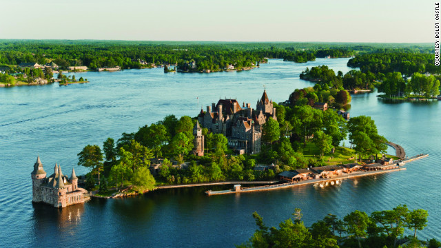 Boldt Castle on Heart Island in Alexandria Bay, New York, was built at the turn of the 20th century and quickly abandoned after the sudden death of George C. Boldt's wife. In the 1970s, the castle became a public attraction. &lt;a href='http://www.budgettravel.com/slideshow/photos-12-amazing-american-castles,8851/' target='_blank'&gt;See more photos of the castles&lt;/a&gt;